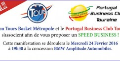 Speed Business avec l'Union Tours Basket Métropole et le Portugal Business Club Touraine à la concession BMW Amplitude Automobile